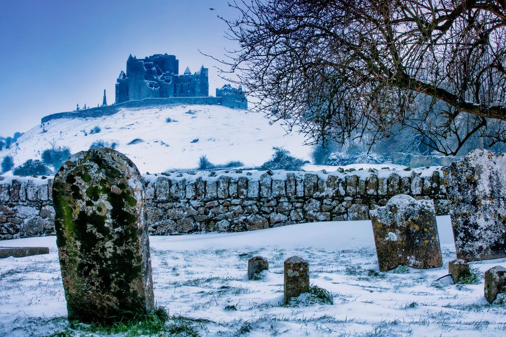 medium-Rock of Cashel in the snow
